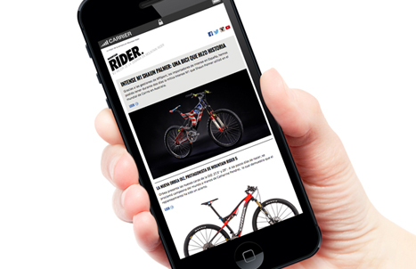 Newsletter de Mountain Rider en Iphone